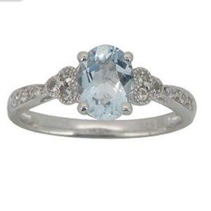 Genuine Aquamarine Ring